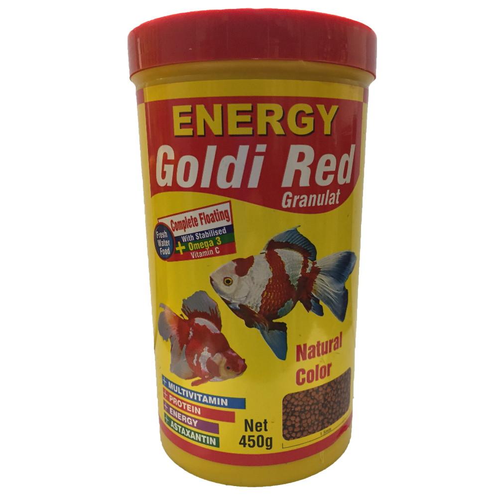 غذا ماهی انرژی مدل Goldi Red Granulat وزن 450 گرم