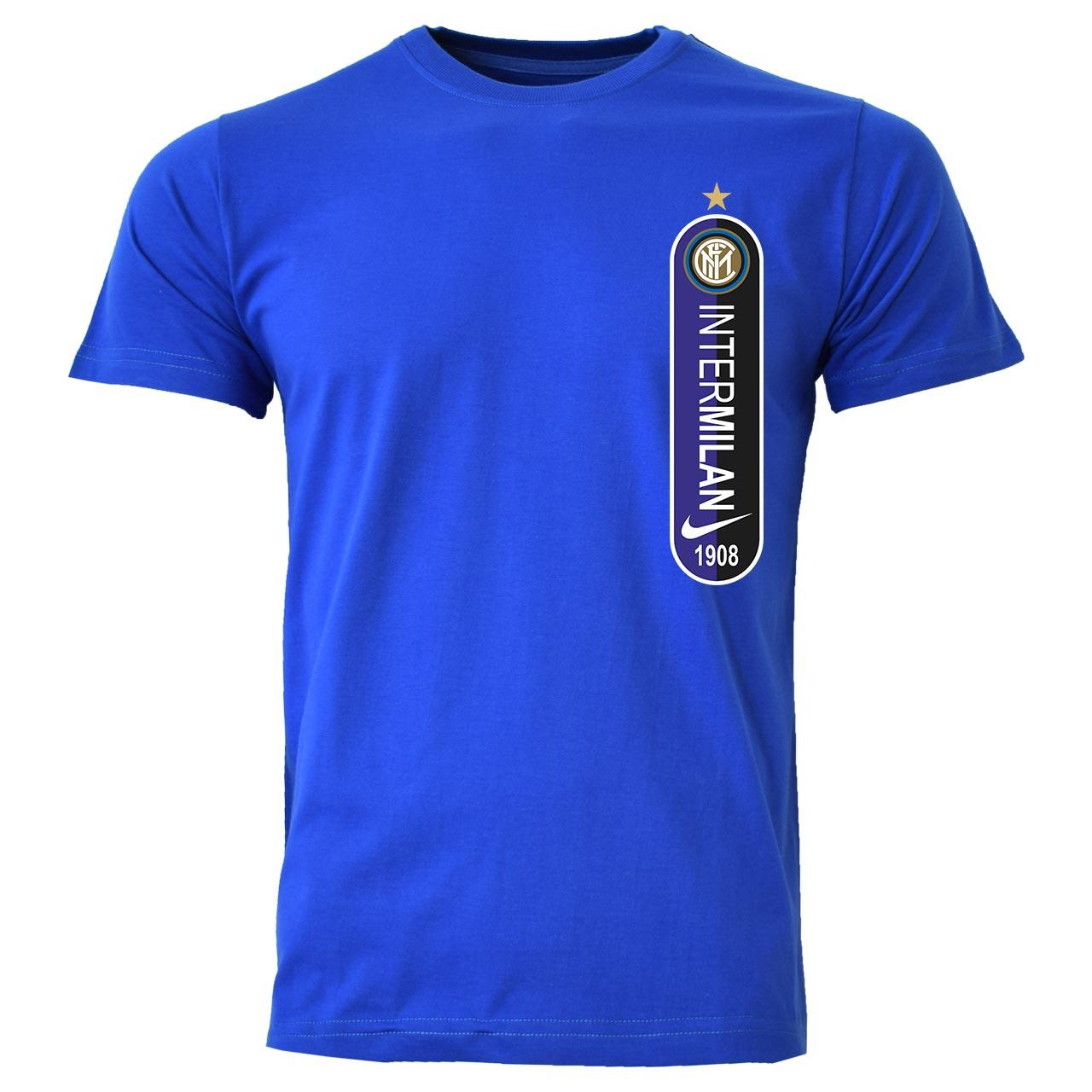 تیشرت مردانه طرح اینترمیلان کد A04 رنگ آبی