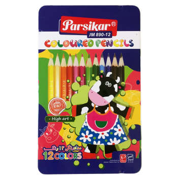 مداد رنگی 12 رنگ پارسی کار مدل JM890-12 Cow