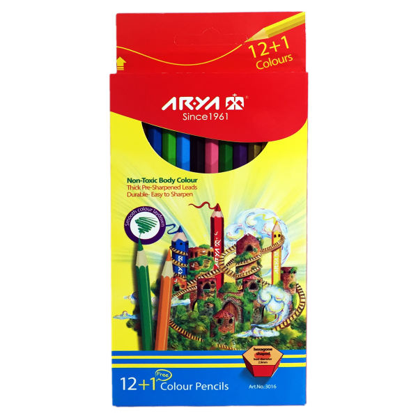 مداد رنگی 13 رنگ آریا کد 3016-Ruins