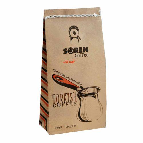 پودر قهوه ترک سورن کافی کد 4354001 مقدار 100 گرم