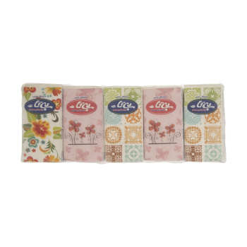 دستمال کاغذی جیبی بی تا 10 برگ بسته 10 عددی