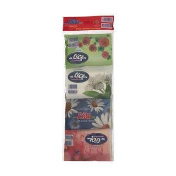 دستمال کاغذی جیبی بی تا 10 برگ بسته 8 عددی