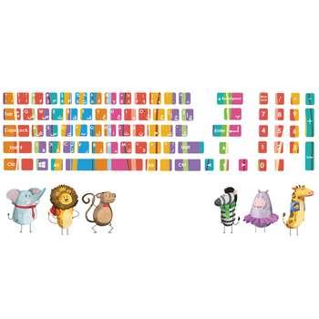 استیکر لپ تاپ کد 01 به همراه برچسب کیبورد