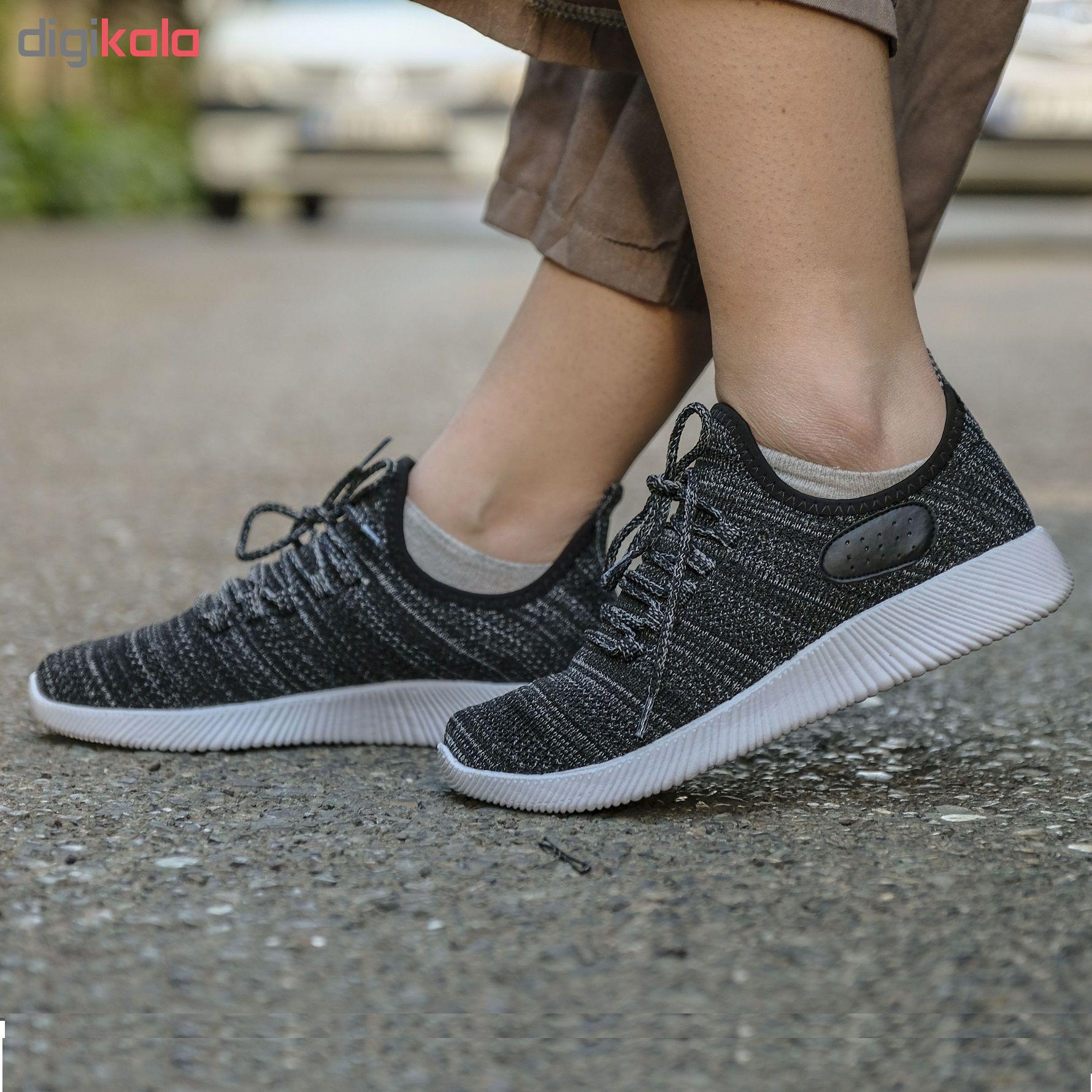 کفش مخصوص دویدن زنانه مدل yezi رنگ خاکستری