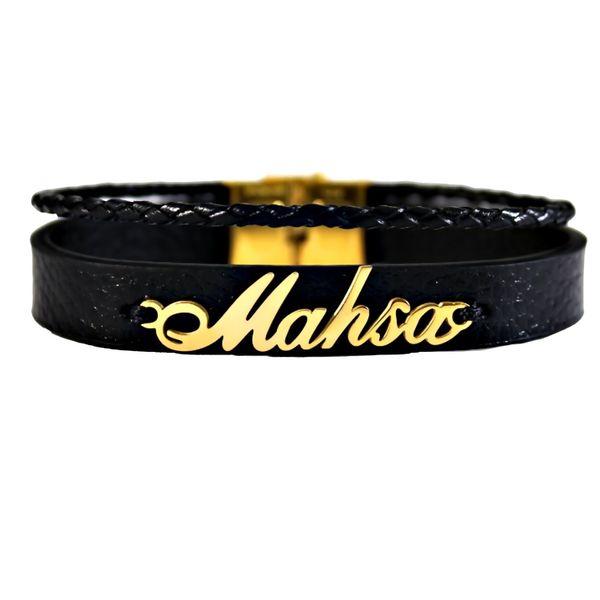 دستبند نقره زنانه طرح اسم مهسا