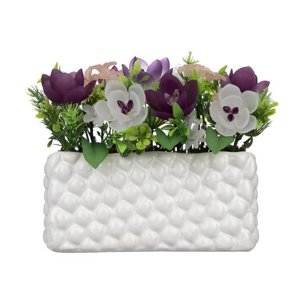 گلدان به همراه گل مصنوعی کد 100