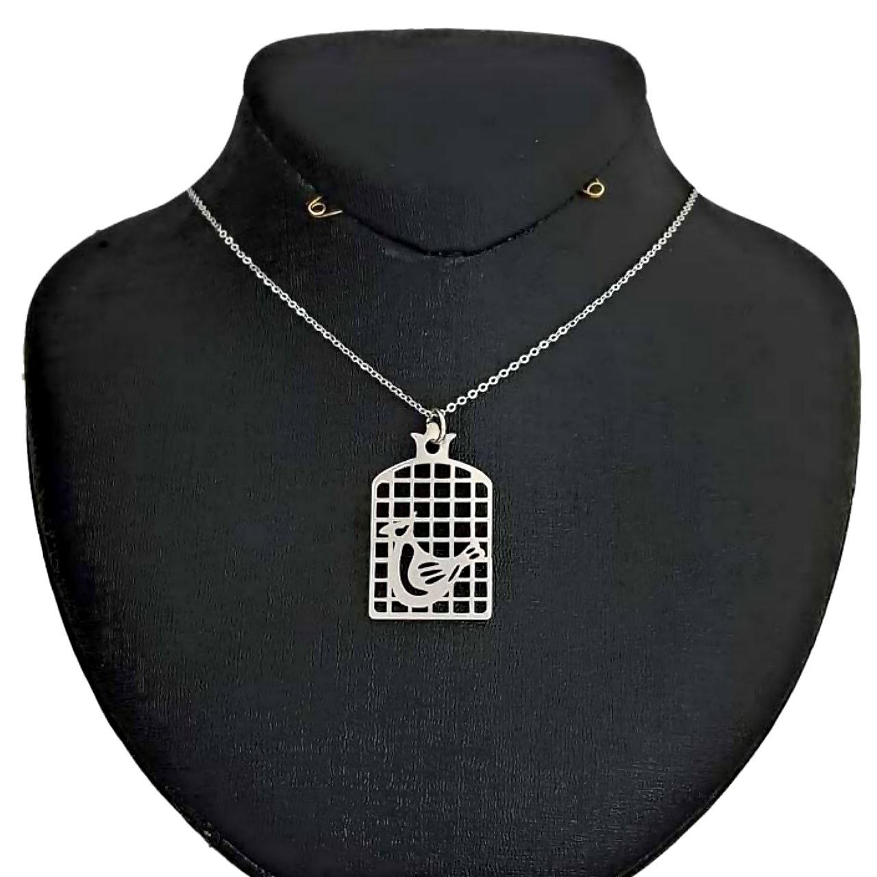 گردنبند طلا 18 عیار زنانه آمانژ طرح مرغ آمین کد D2151