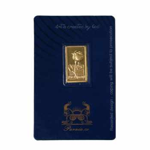 طلا گرمی 24 عیار پرنیا مدل گل رز
