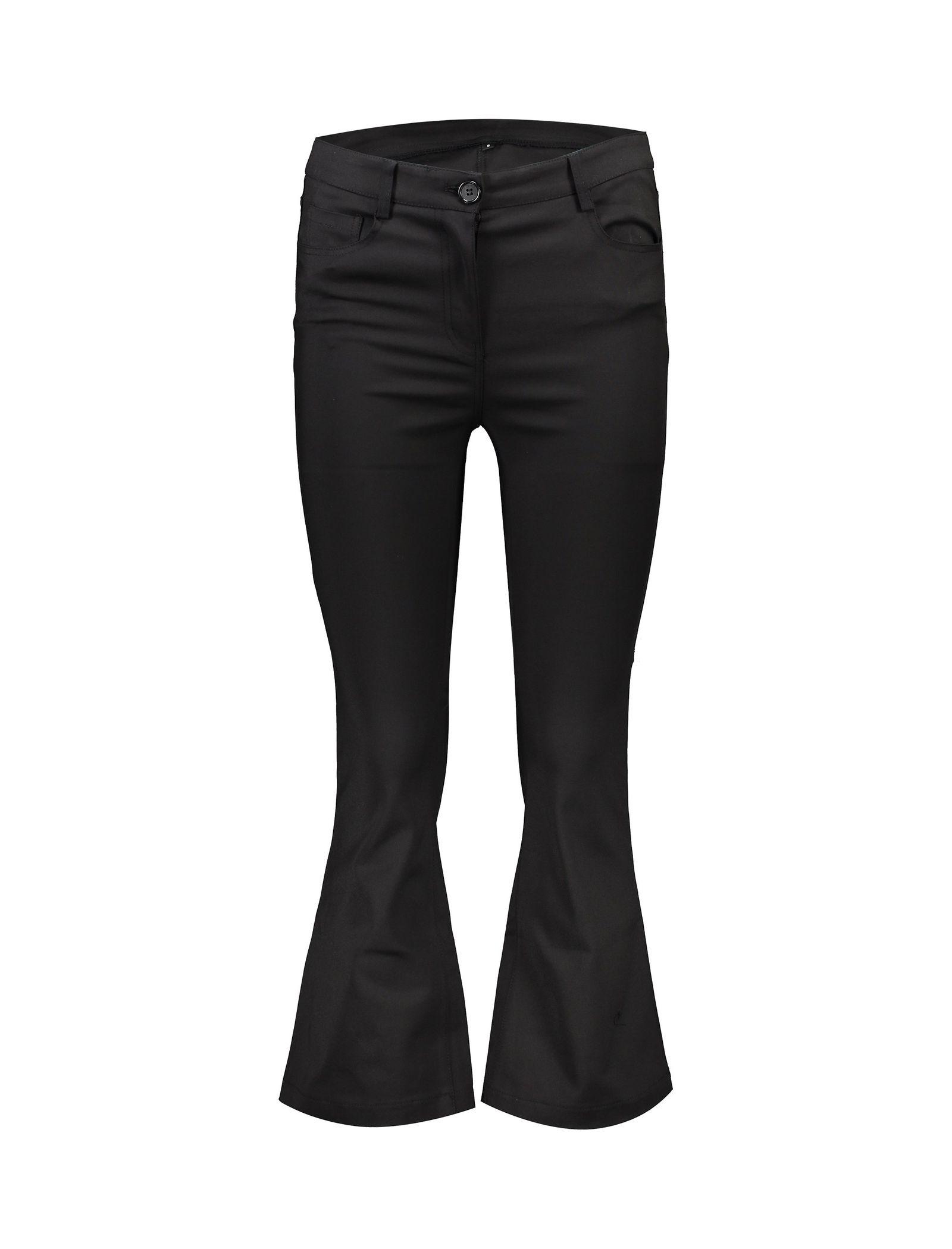 شلوار جین دمپا گشاد زنانه - یو یو - مشکي - 1