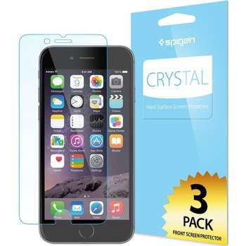 محافظ صفحه نمایش اسپیگن مدل  Crystal مناسب برای گوشی موبایل آیفون 6 پلاس/6s پلاس بسته 3 عددی