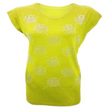 تیشرت آستین کوتاه زنانه مدل رویال کد tm-378 رنگ زرد  