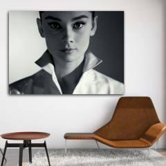 تابلو شاسی طرح آدری هپبورن مدل Artist 0344