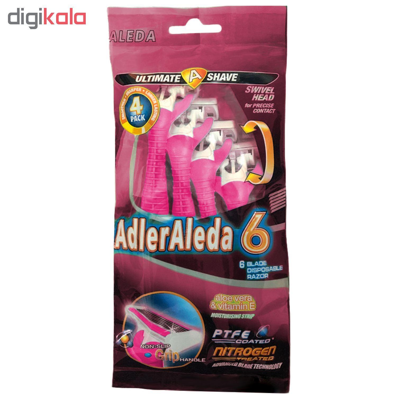 خودتراش آلدا مدل AdlerAleda 6 بسته ۴ عددی main 1 1