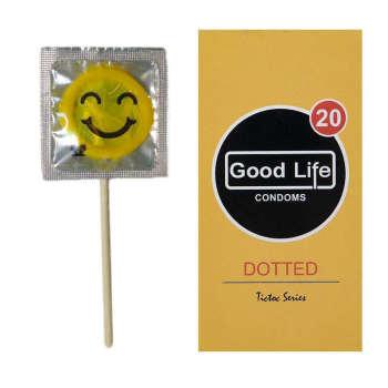 کاندوم گودلایف مدل Dotted بسته 12 عددی به همراه کاندوم طرح ایموجی