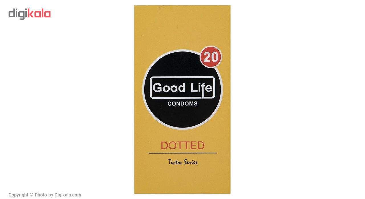 کاندوم گودلایف مدل Dotted بسته 12 عددی به همراه کاندوم طرح ایموجی main 1 1