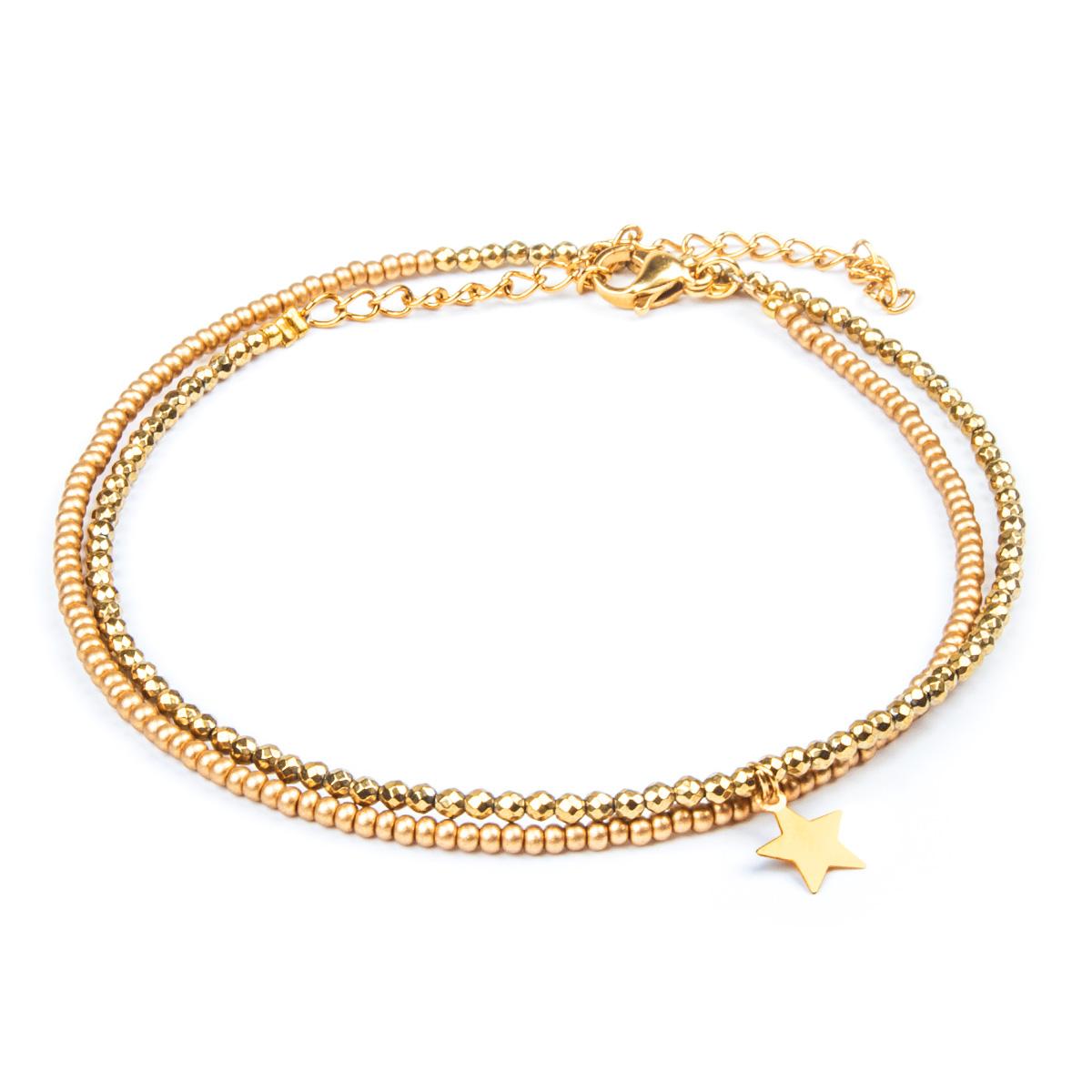 پابند طلا ۱۸ عیار زنانه ریسه گالری مدل Ri3-H2026
