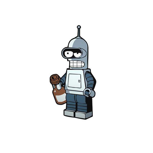 استیکر لپ تاپ طرح ربات کد 447