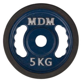 وزنه هالتر ام دی ام مدل N1 وزن 5 کیلوگرم بسته 2 عددی