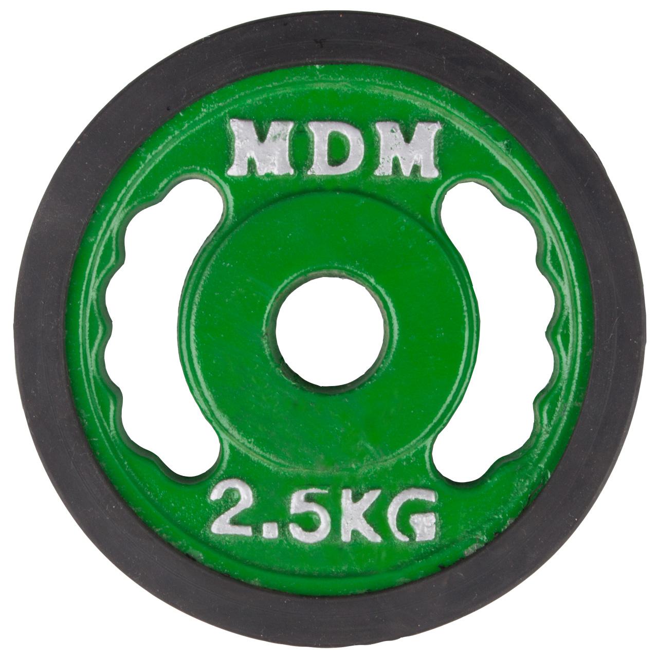 وزنه هالتر ام دی ام مدل N2 وزن 2.5 کیلوگرم بسته 2 عددی