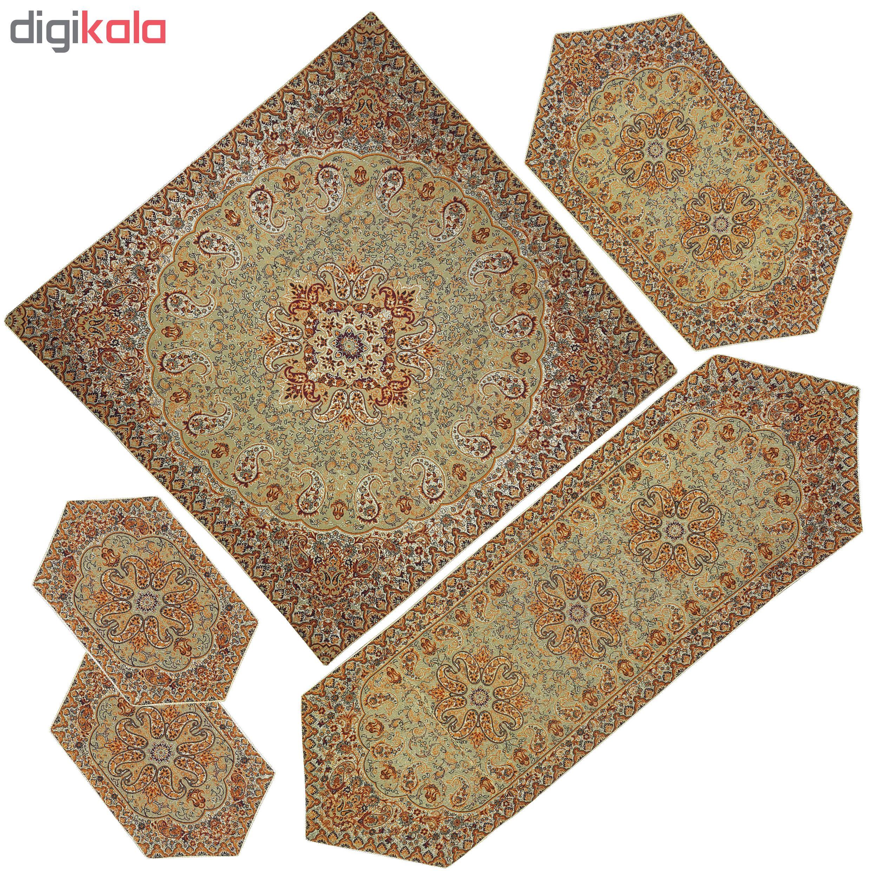 5 PCS Nastaran cashmere tablecloth, KRM5/5 Model