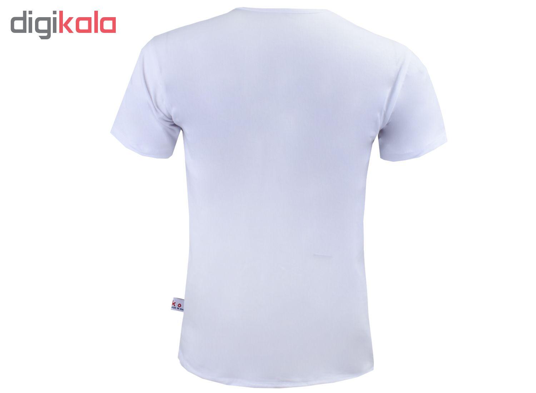 تیشرت آستین کوتاه مردانه آکو طرح پر کد Ns028