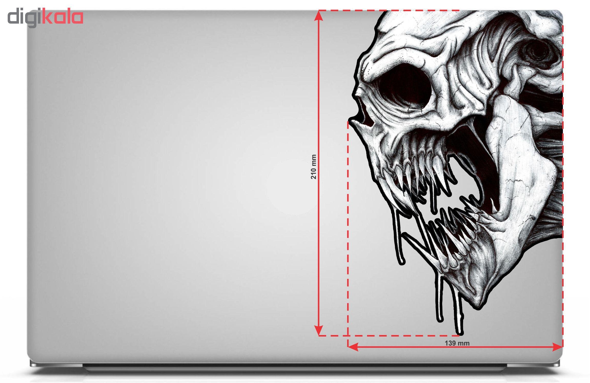 استیکر لپ تاپ طرح Skull مدل BSB-00708