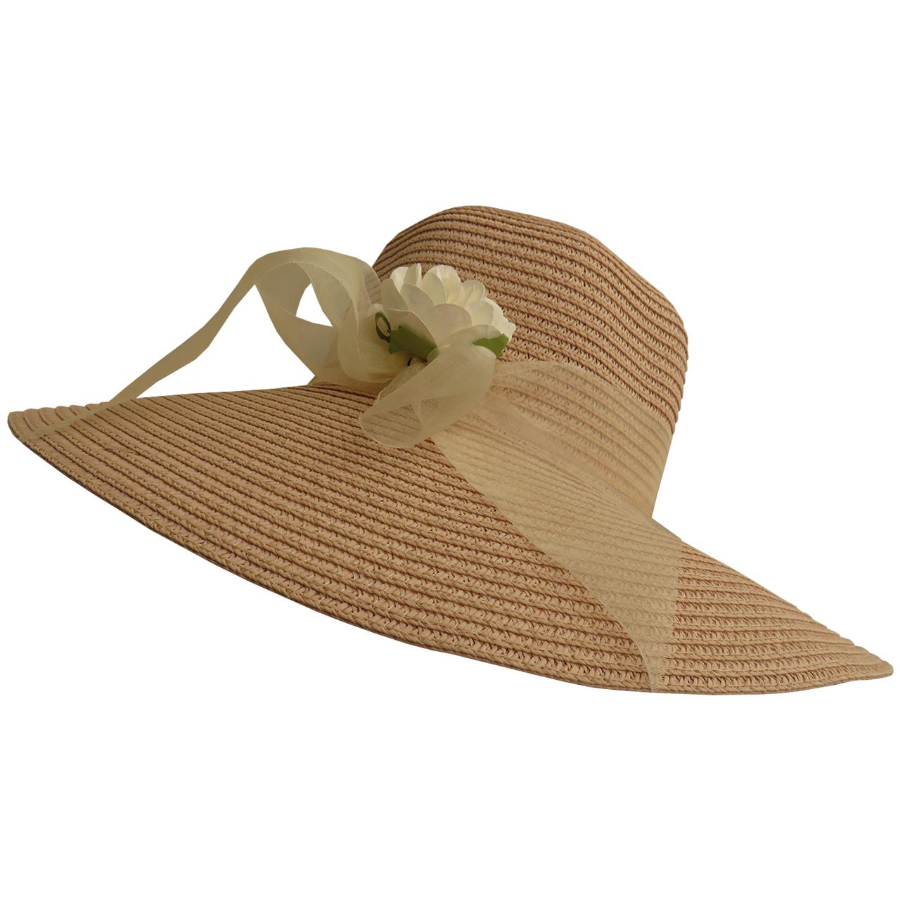 کلاه زنانه حصیری مدل شهرزاد کد 06