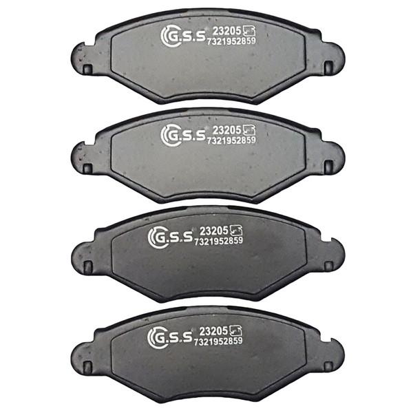 لنت ترمز جلو جی اس اس مدل GS23205 مناسب برای پژو 206 تیپ 2
