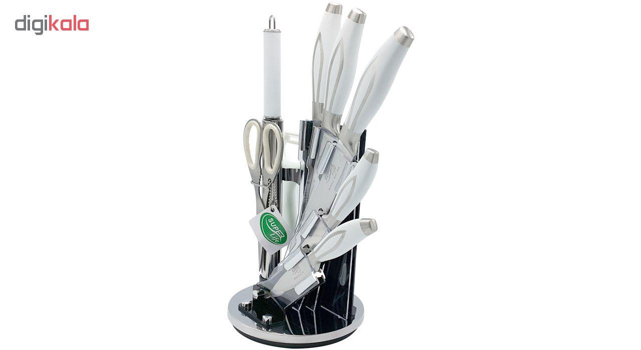 سرویس چاقوی آشپزخانه 8 پارچه سوپر لایف کد 2266