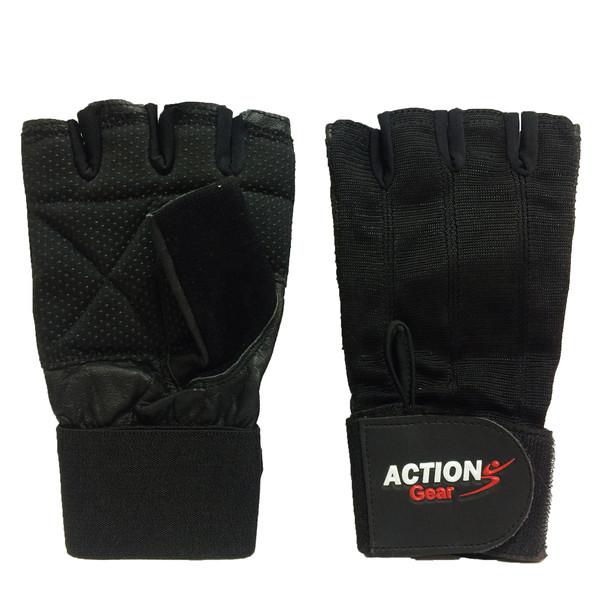 دستکش بدنسازی مردانه مدل ACTION GEAR کد BA