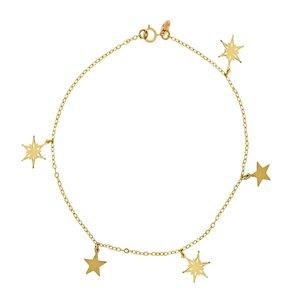 پابند نقره زنانه طرح ستاره