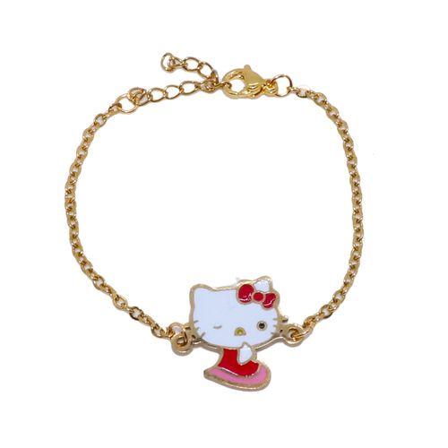 دستبند دخترانه طرح کیتی کد 002