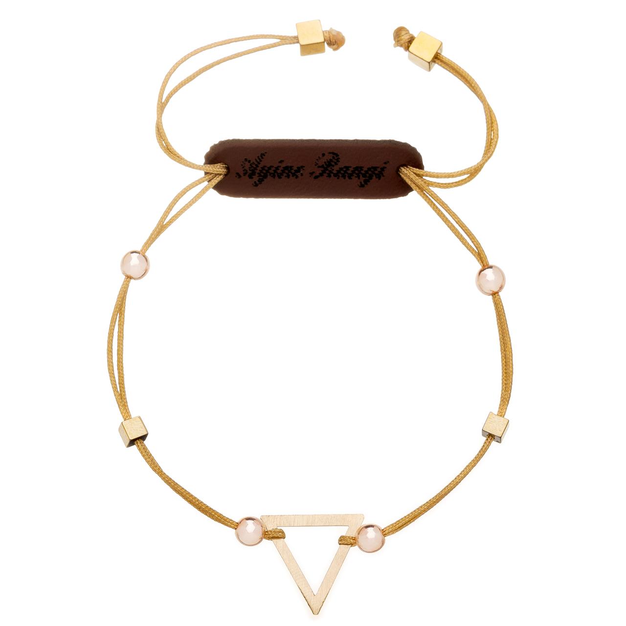 دستبند طلا 18 عیار آیینه رنگی مدل مانو کد AR-H015