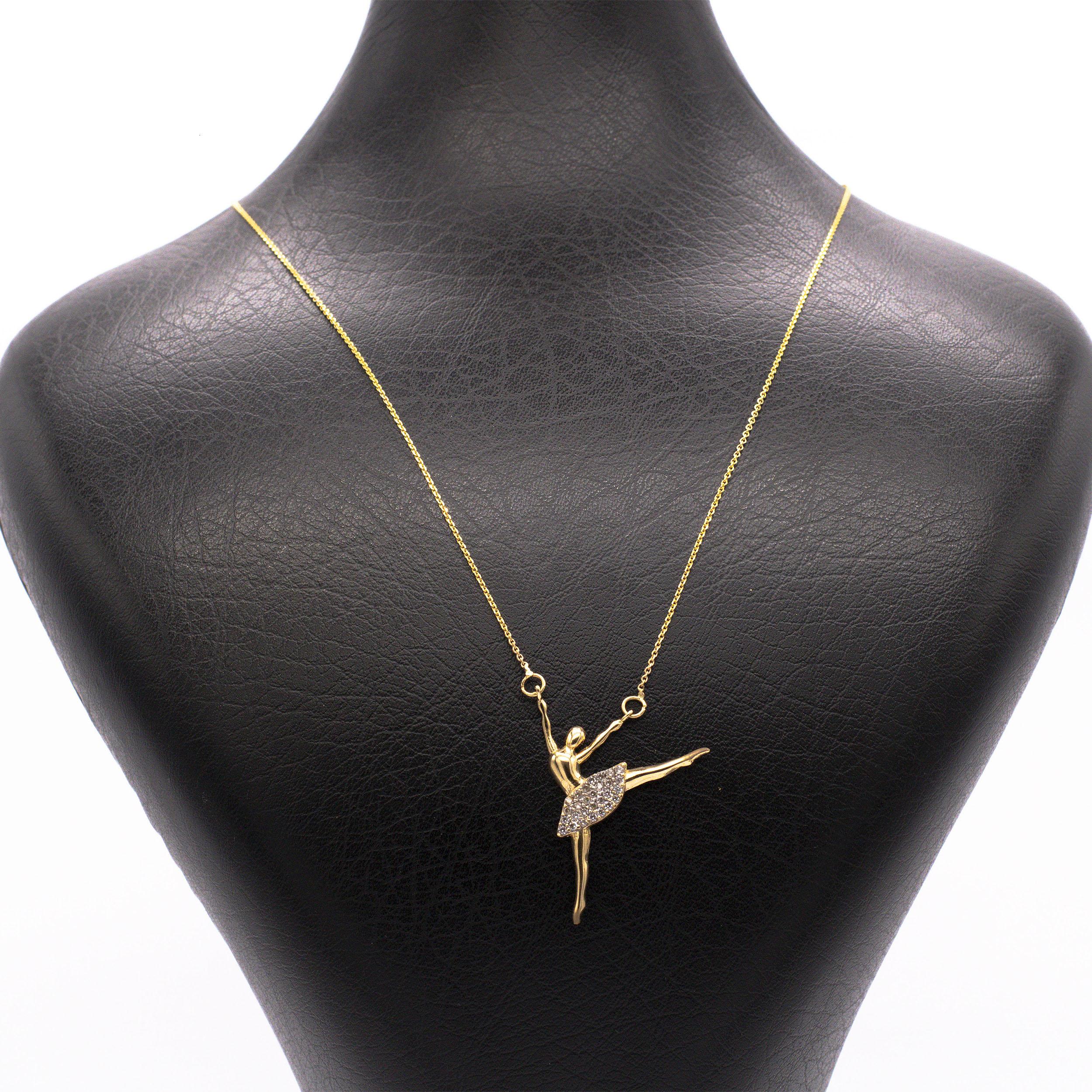 قیمت گردنبند طلای 18 عیار زنانه  طرح  باله کد G402