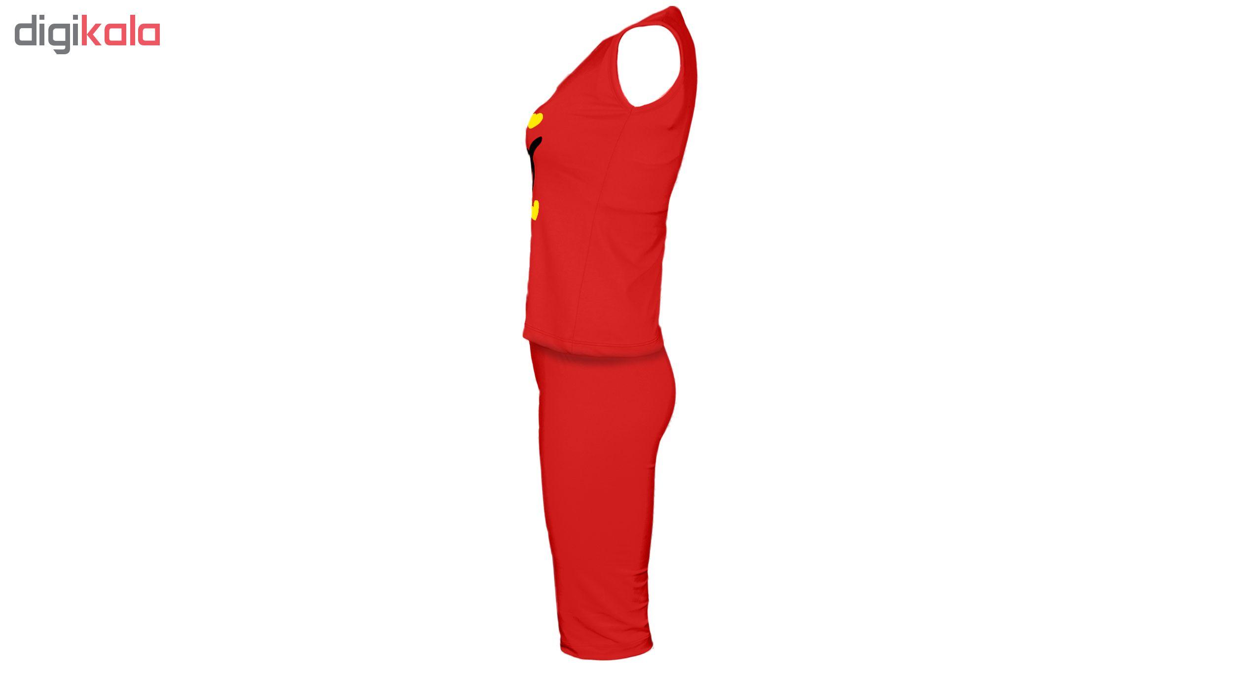 خرید                                      ست تاپ و شلوارک زنانه کد S204 رنگ قرمز