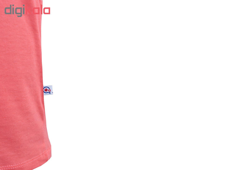 خرید                                      ست تاپ و شلوارک زنانه آکو طرح زرافه کد BG09