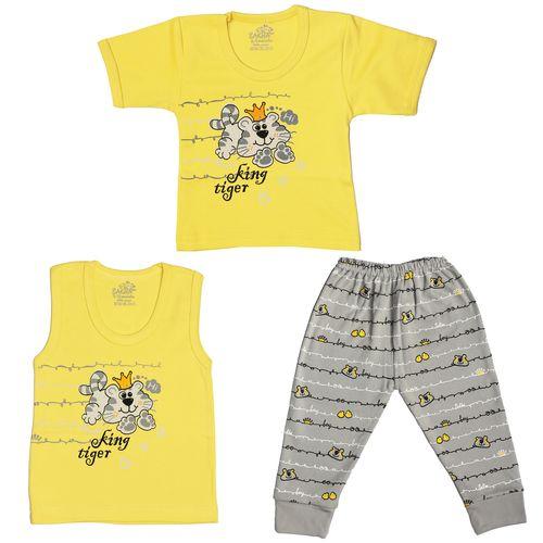 ست 3 تکه لباس نوزادی پسرانه مدل YG-A