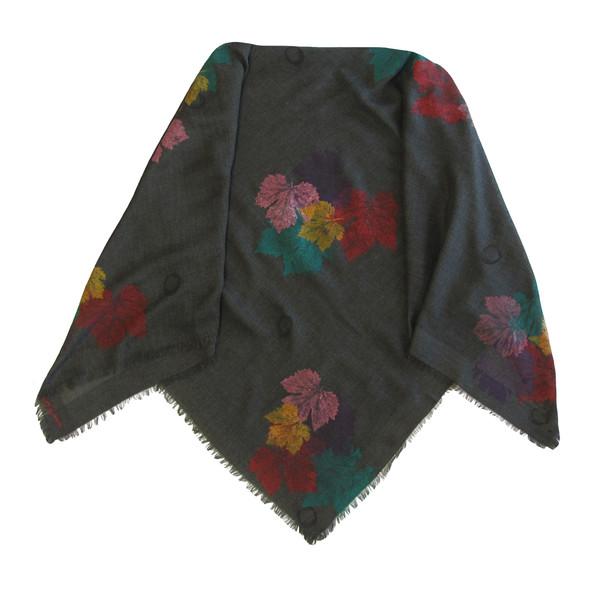 روسری زنانه سروین مدل برگ کد SBA105