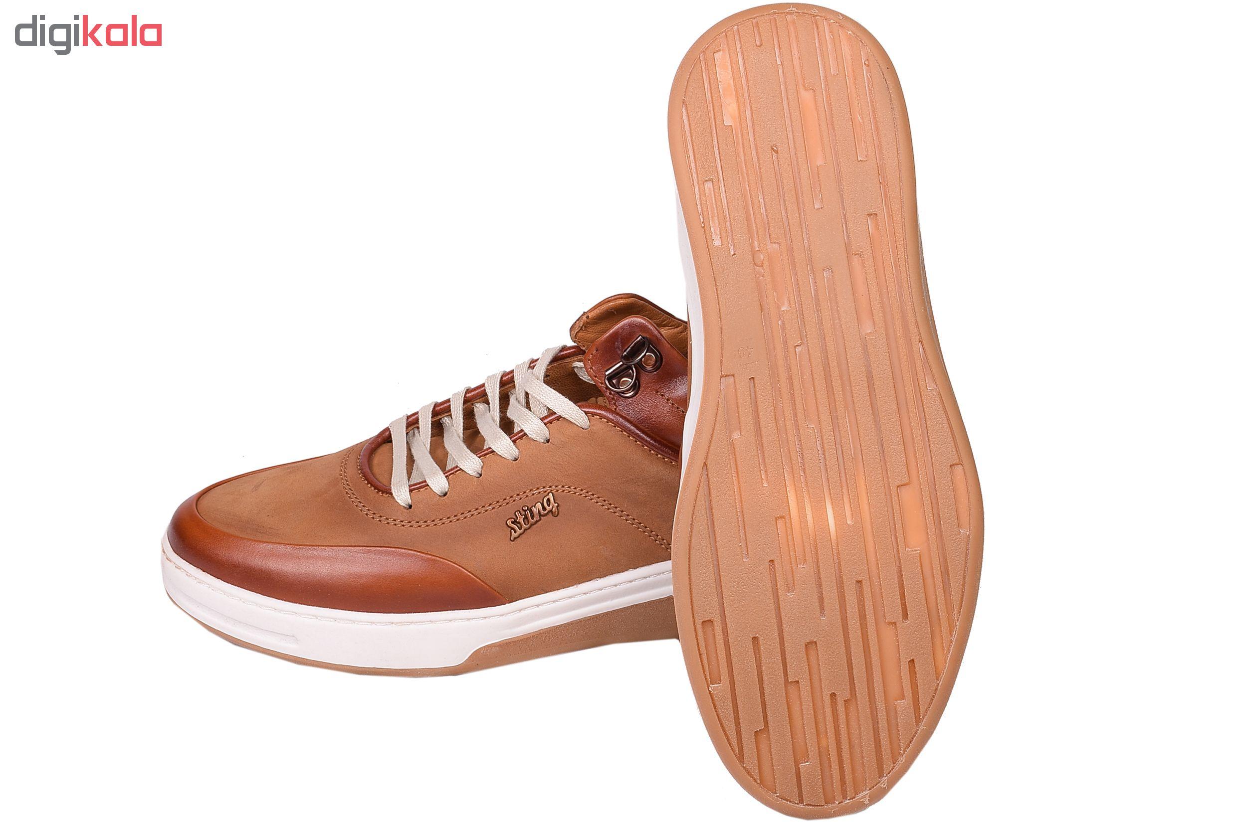 کفش راحتی مردانه مدل استینگ کد 1578 رنگ عسلی