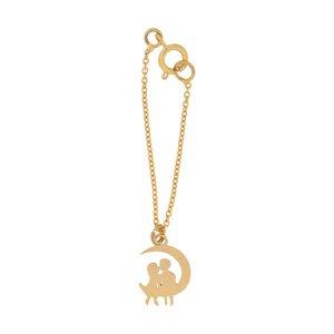 آویز ساعت طلا 18 عیار دخترانه میو گلد مدل WTC97