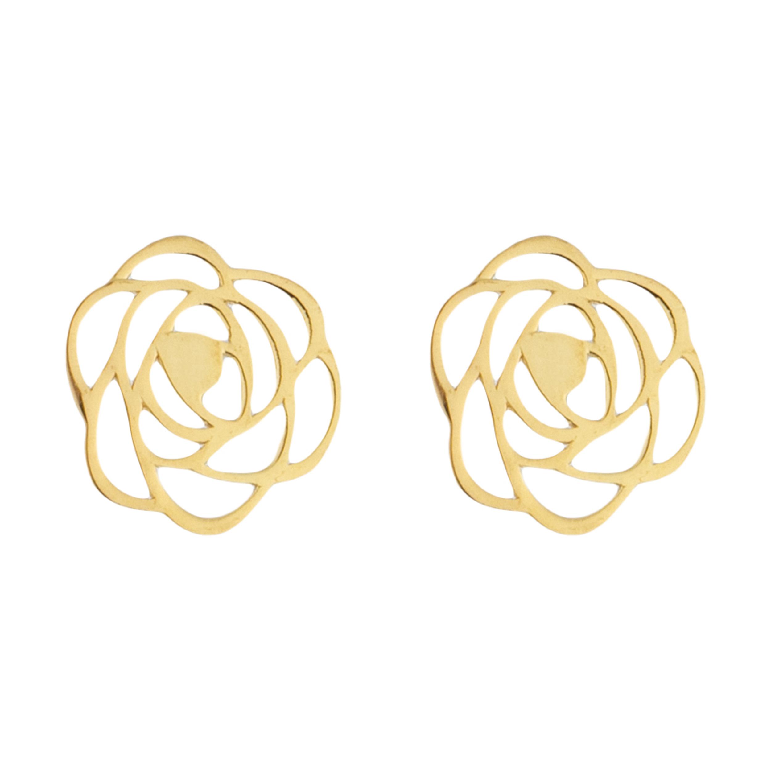 قیمت گوشواره طلا 18 عیار زنانه میو استار مدل EG19