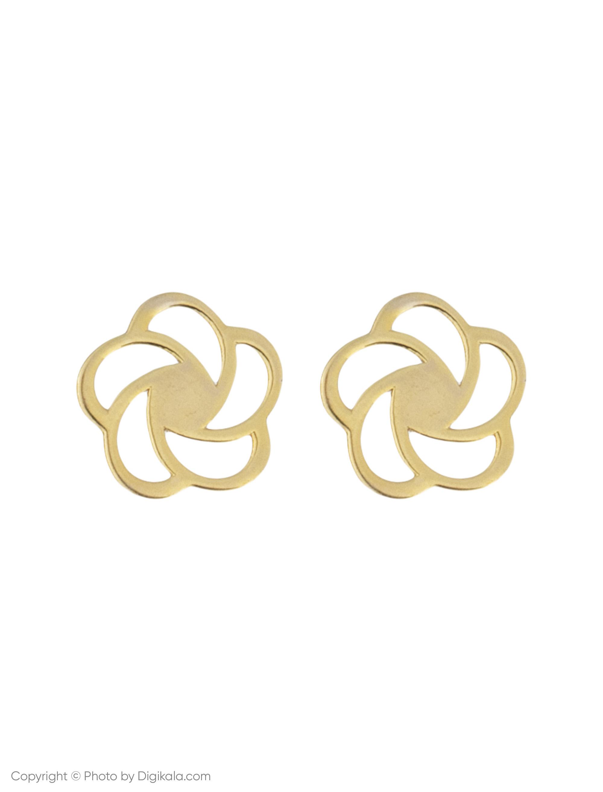 گوشواره طلا 18 عیار زنانه میو استار مدل EG132