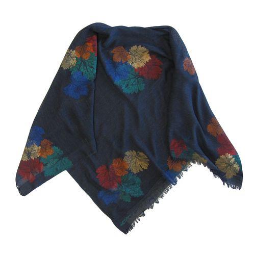 روسری سروین طرح برگ  کد SBA106