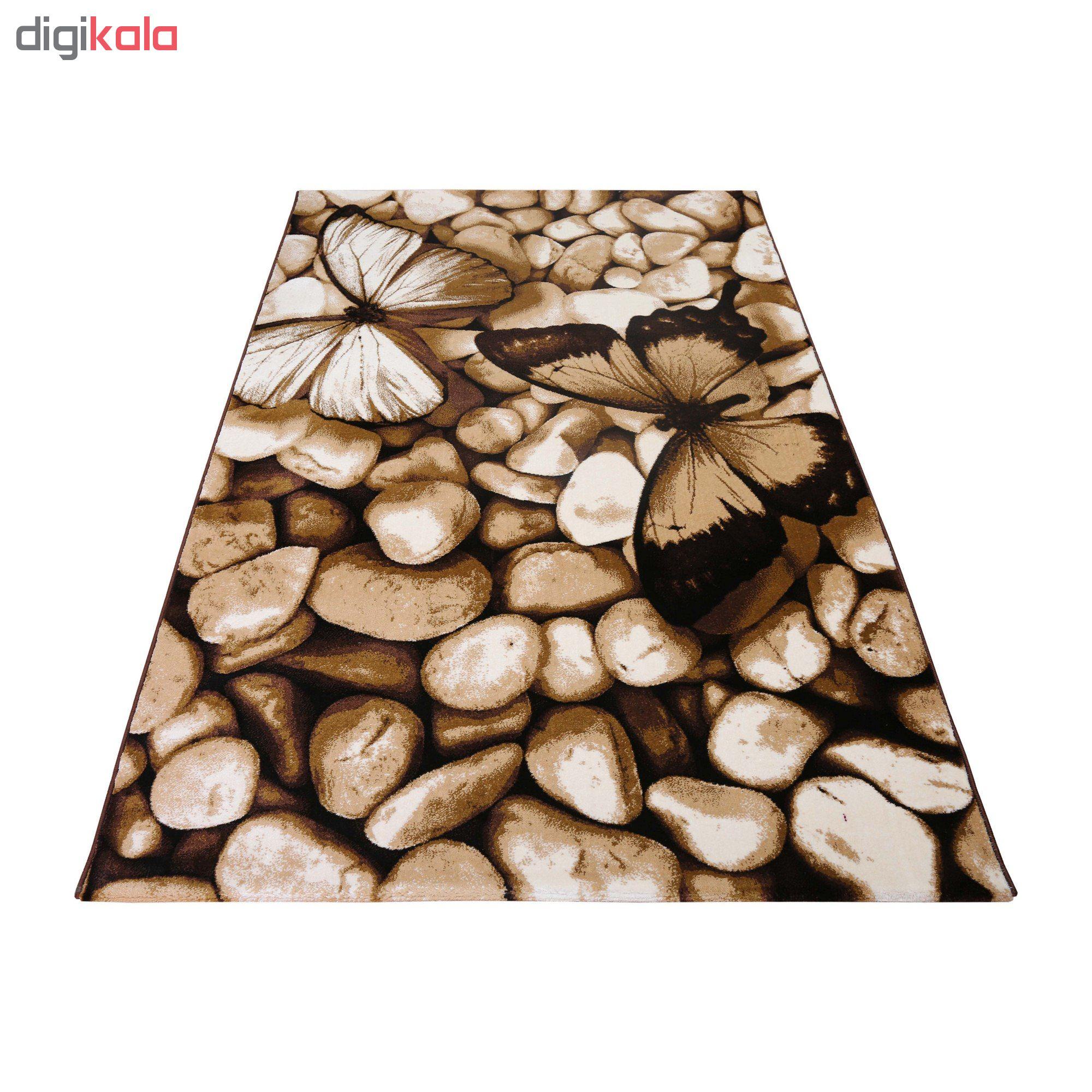 فرش ماشینی دنیای فرش طرح شاپرک