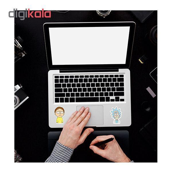 استیکر لپ تاپ طرح rick & morty کد 01 مجموعه 2 عددی main 1 2