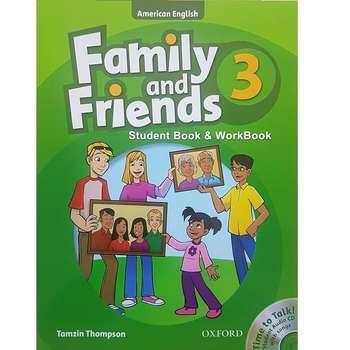 کتاب زبان Family And Friends 3 - Student Book & WorkBook اثر Tamzin Thompson انتشارات Oxford