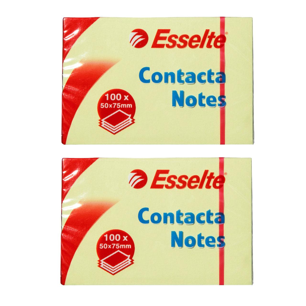 کاغذ یادداشت چسب دار ایسلتی مدل Contacta-83005 بسته دوعددی