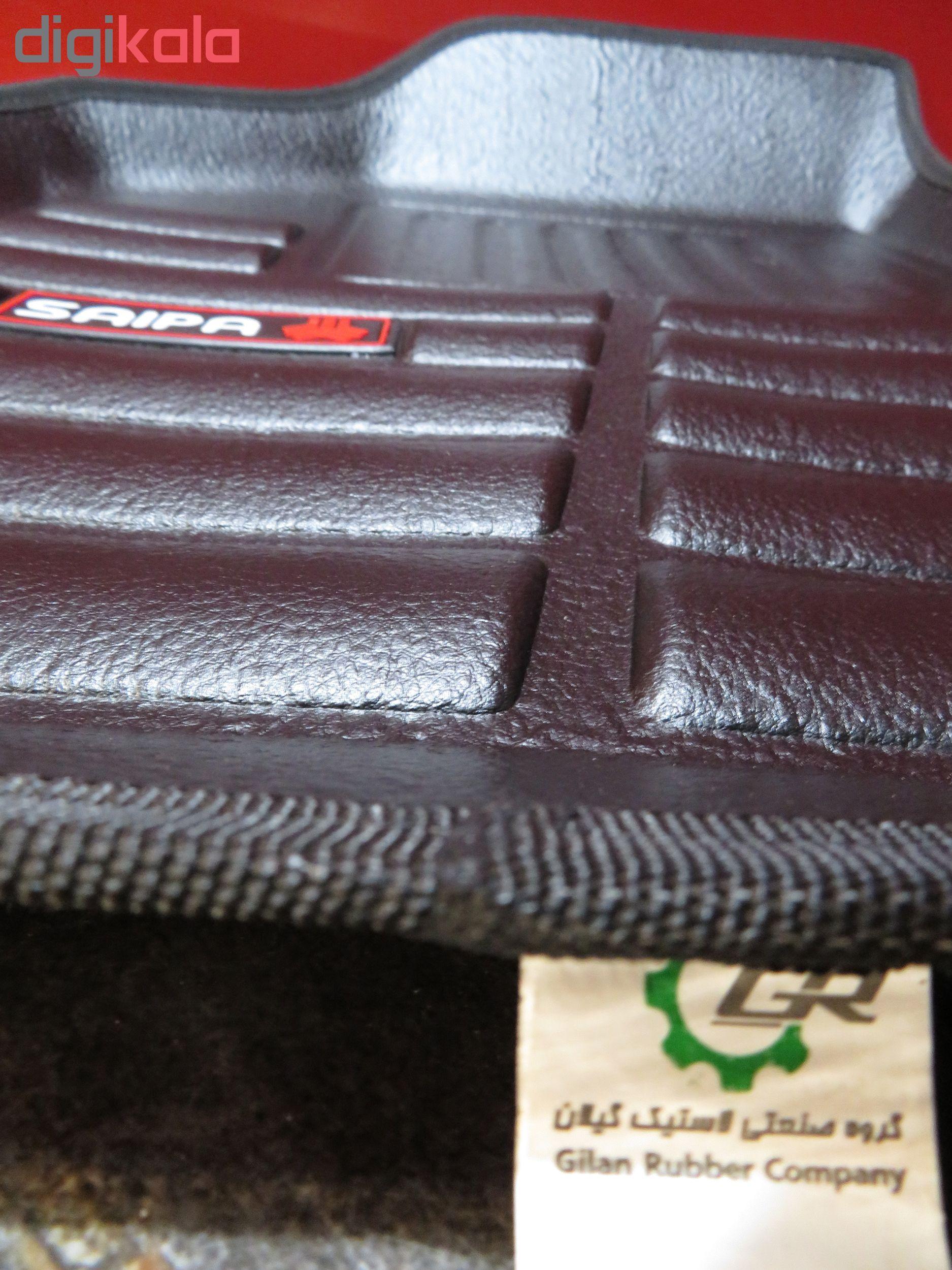 کفپوش سه بعدی خودرو لاستیک گیلان مدل sa مناسب برای ساینا و تیبا