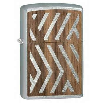 فندک زیپو کد 29902 طرح بدنه چوبی